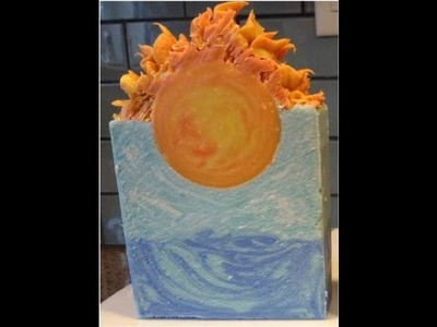 """Making and cutting """"Apollo"""" soap (A Greek myth themed soap)"""