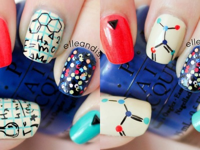 Nerdy Science Nails (Choose Freehand or Stamping)
