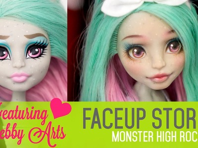 Repainting Monster High Rochelle - Faceup Stories 36 collab with Debby Arts