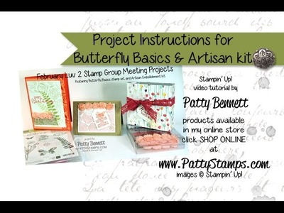 Stamp 3 Butterfly Basics projects Stampin Up