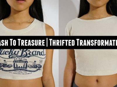 Trash To Treasure | DIY TOPSHOP : The Wide Ribbed Cotton Crop Top