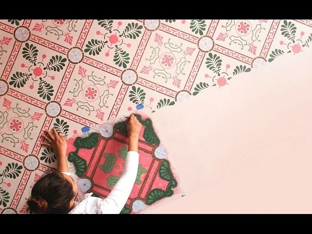 How to match floor tiles with wall paint