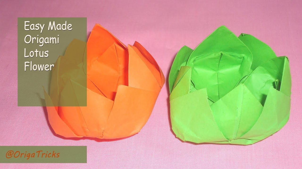 Origami Lotus Flower Instructions You Flowers Healthy