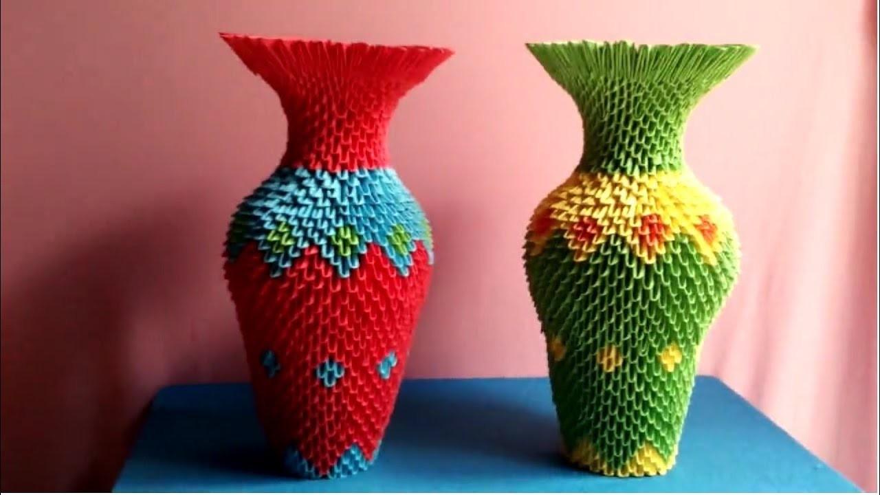 Modular Origami Vase Models Shapeways
