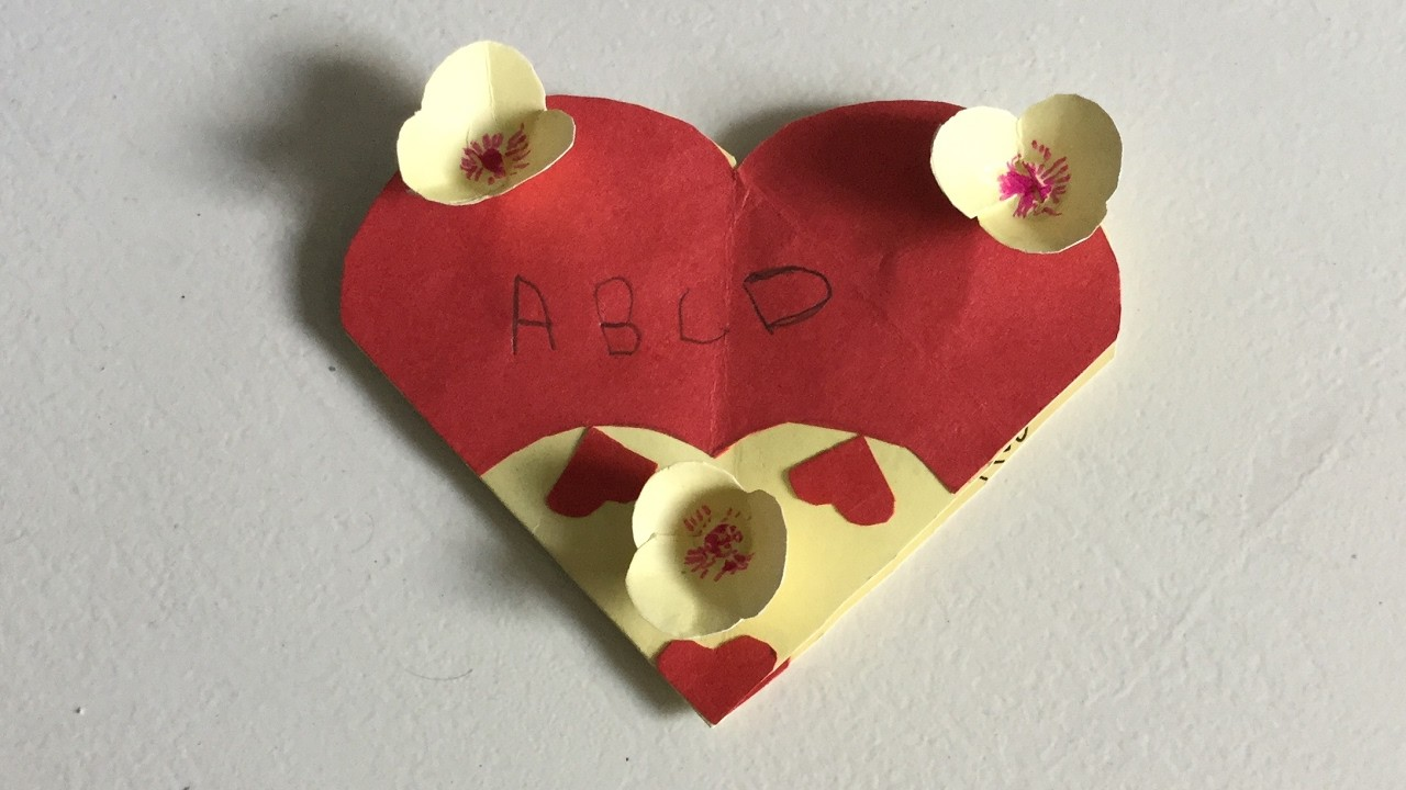 Simple handmade valentine greeting cards