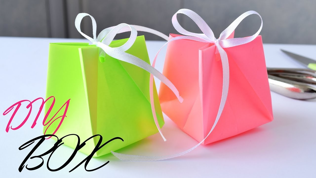Как сделать подарочный пакет из простой бумаги