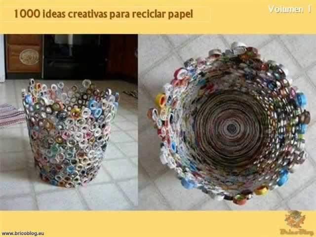 1000 manualidades creativas reciclando papel