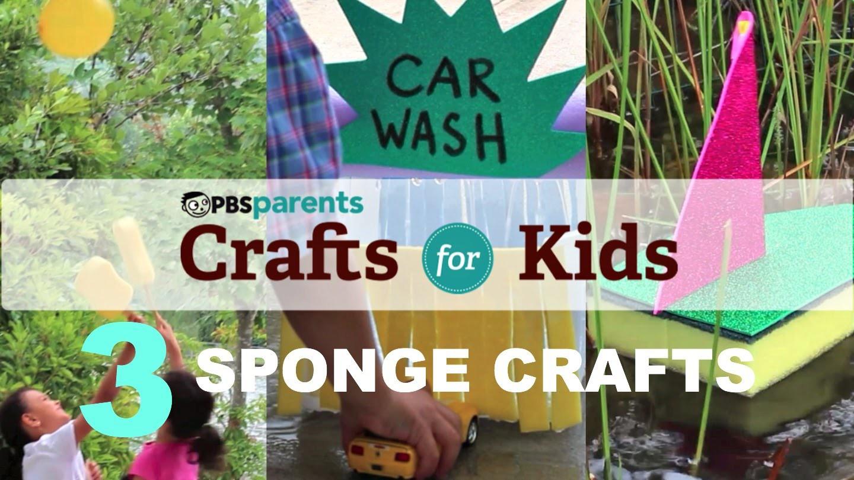 3 Summer Sponge Crafts | Crafts for Kids | PBS Parents