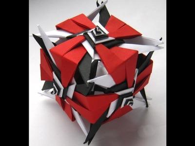 #35 Kusudama spiral by Ирина Krivyakina - Yakomoga Origami tutorial