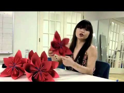 3D Origami Flower for the Lot 8 Window