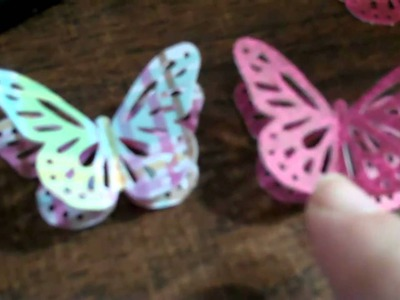 3D Paper Butterfly - Martha Stewart Monarch Butterfly Punch
