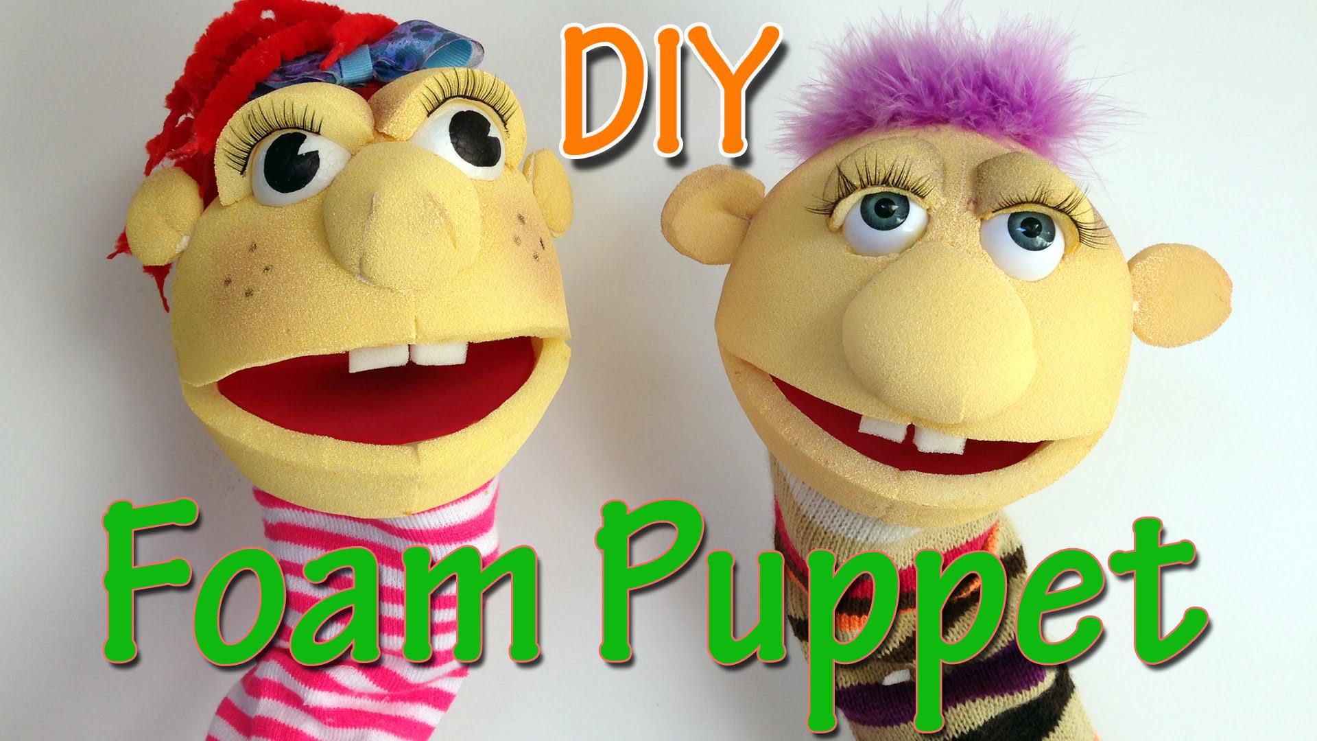 Ana DIY Crafts - How to make a Foam Puppet