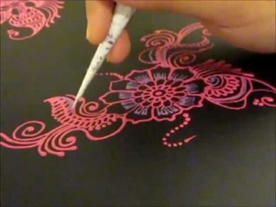 Arabic Henna design inspired Folder -- Henna Glitz