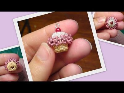 Beaded Cupcake 3D Beading Tutorial by HoneyBeads (Photo tutorial)
