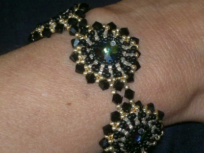 Beading4perfectionists : How to Bezel a Swarovski Rivoli with miyuki beads beading tutorial