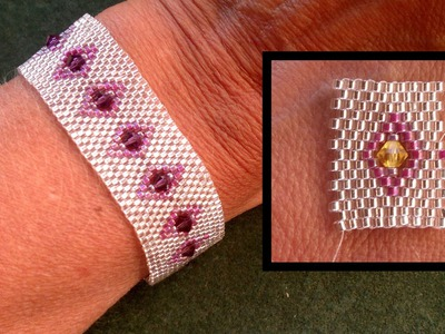 "Beading4perfectionists : Stitch nr 5: Odd peyote ""the easy way"" bracelet  beading tutorial"