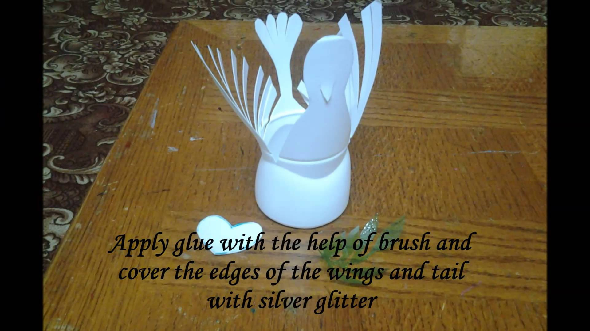 Best out of waste Plastic Bottle Bird - Dove