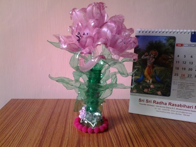 best out of waste plastic bottles transformed to pretty pink flowers