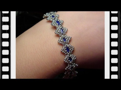 Bollywood Bracelet with Tila beads Beading Tutorial by HoneyBeads (Video tutorial)