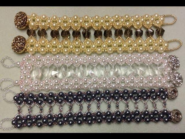Caged Crystal Bracelet Tutorial