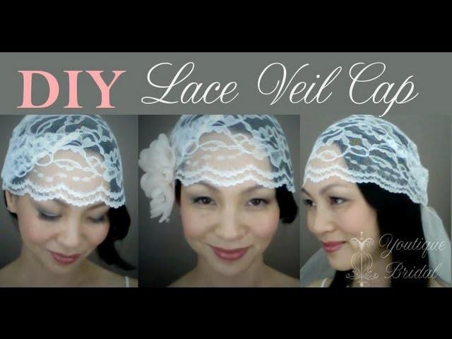 {CATHY} How to make a Wedding Lace Veil Cap: DIY Tutorial