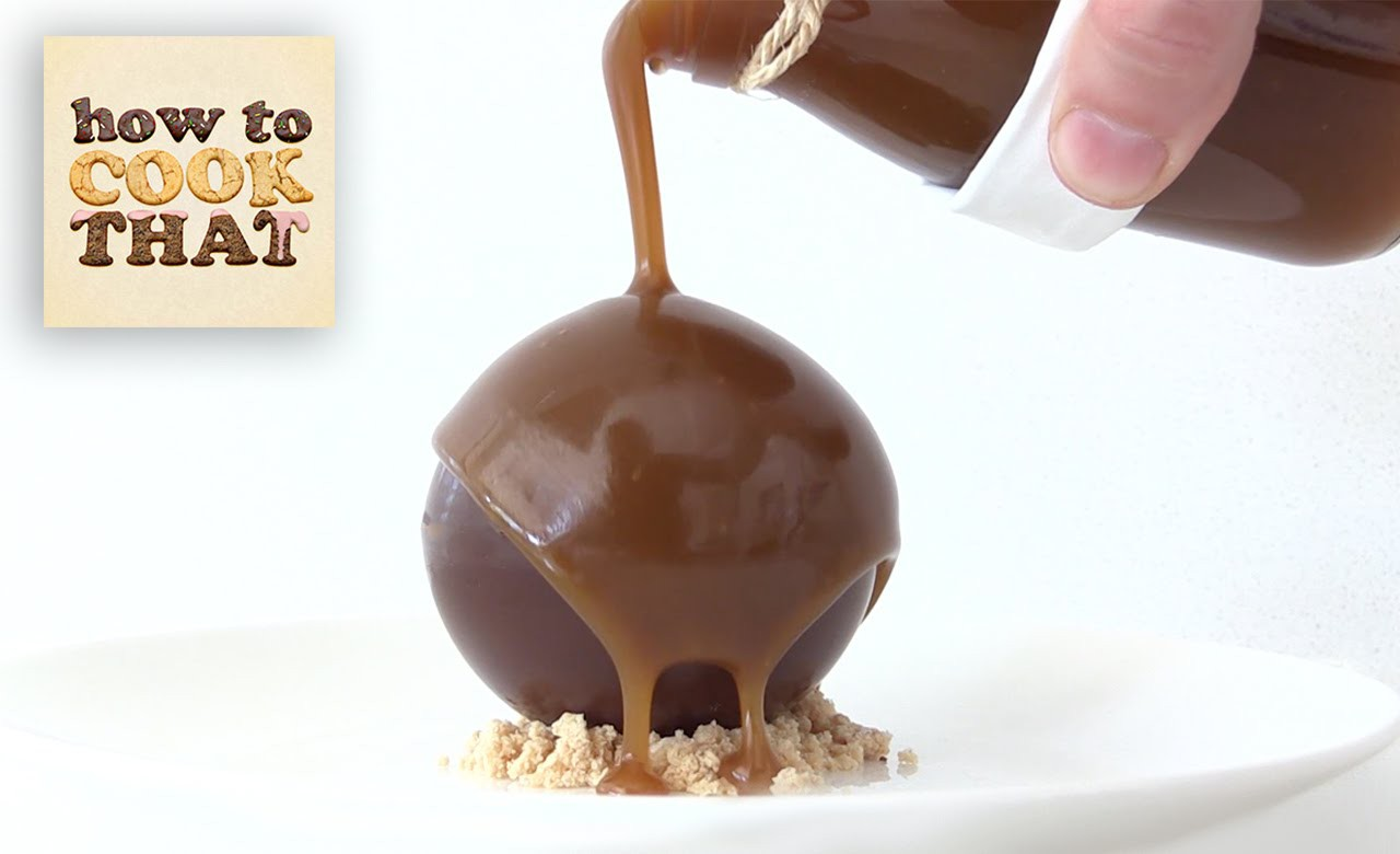 CHOCOLATE CARAMEL PEANUT BOMB How To Cook That Dessert