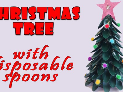 Christmas tree with disposable spoons - Christmas crafts ideas