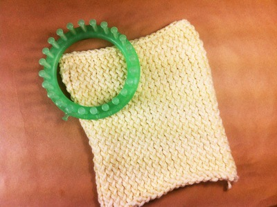 Circular Loom Knitting: How to Knit Crossed Stockinette Stitch in Flat Panel (DIY Tutorial)