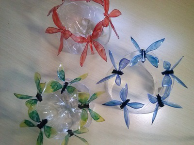 Como fazer borboletas em garrafas pet passo a passo - recycling
