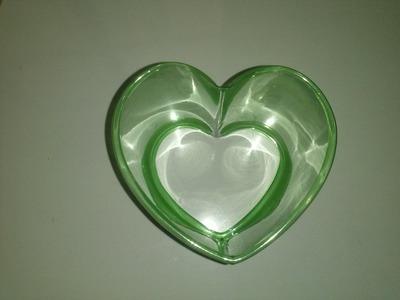 Como fazer um coração com garrafa Pet passo a passo