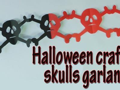 Crafts for Halloween - skulls garland -  Halloween decorations