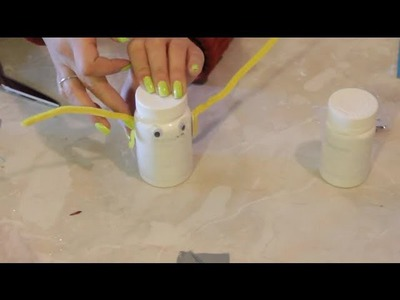 Crafts Made With White Plastic Medicine Bottles : Arts & Crafts