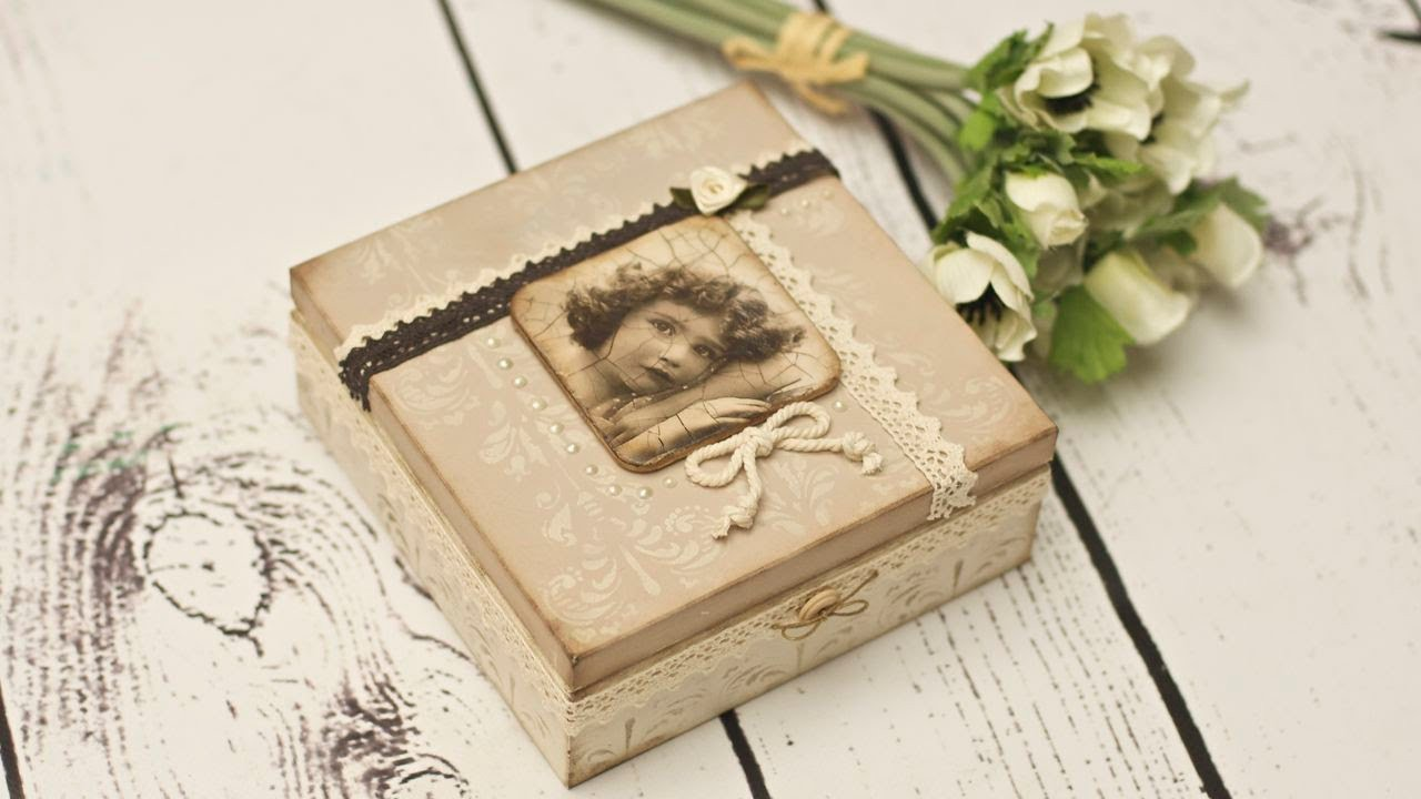 Decoupage vintage box - DIY tutorial
