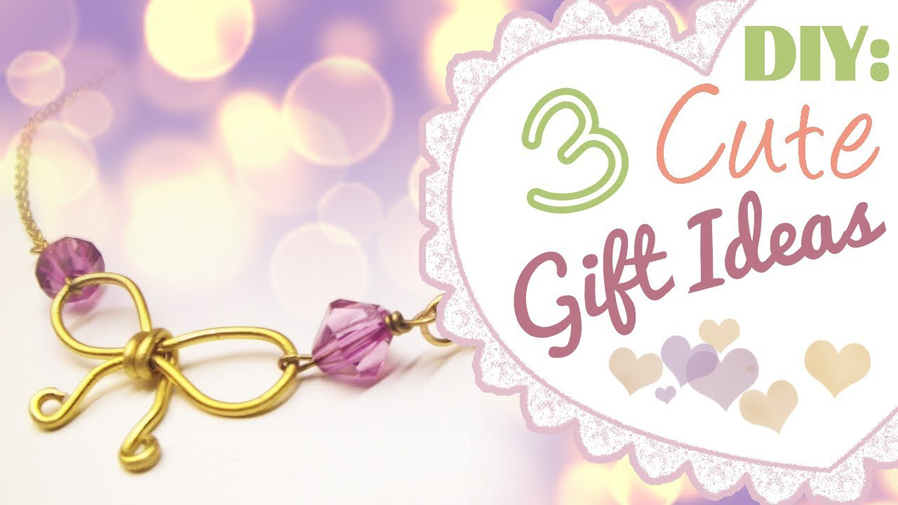 DIY: 3 Cute Gift Ideas | Birthday | Valentine's Day | ♥