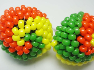 DIY♥Aretes disdome (espiral) (peyote)