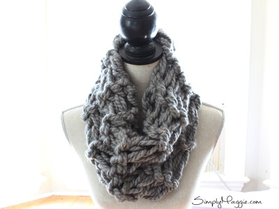 DIY Arm Knit Garter Stitch Scarf in 20 minutes - With Simply Maggie