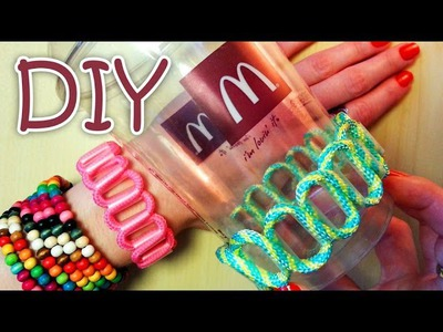 DIY Bracelet Out Of A Drinking Straw (Recycle)