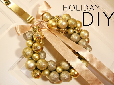 ❉ DIY Christmas Ornament Wreath Tutorial ❉