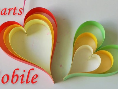 DIY Crafts - Hearts Mobile - Hanging Decorations
