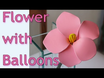 DIY crafts - How to make flowers with balloons