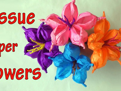 DIY crafts : How to make tissue paper flowers EASY!