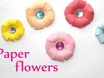 DIY crafts: PAPER FLOWERS (very easy) -  Innova Crafts