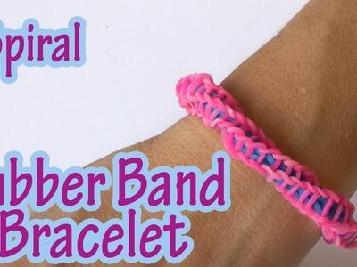 DIY crafts : Spiral Rubber Band Bracelet (without loom)