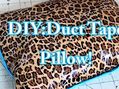 DIY: Duct Tape pillow! Tutorial!