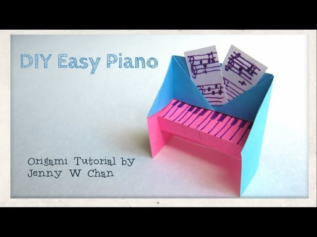 DIY Easy Piano Origami Tutorial. Instructions - Handmade Gift Idea - Paper Crafts