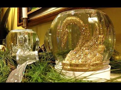DIY Elegant Holiday Snow Globe