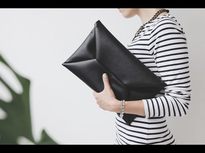 DIY envelope clutch video tutorial