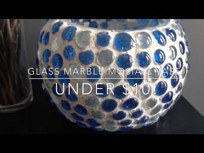 DIY: Glass Marble Mosaic Vase ♡ {Patio Decor} ♡ Jessica Joaquin