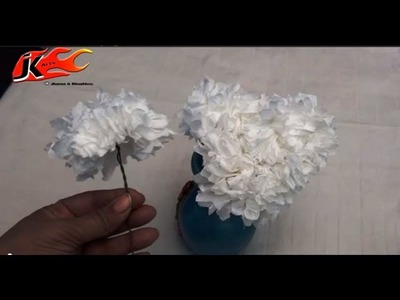 DIY How To Make Flower From Tissue Paper - JK Arts 009