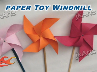 DIY How to make Paper Toy Windmill (Easy craft for kids) - JK Arts 256